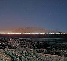 Table Mountain by Night by Anthony Booysen