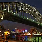 Sydney Harbour Bridge at night by simonwoolley