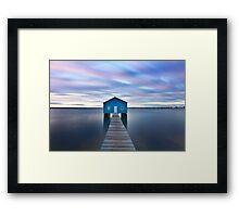 Sunrise at Matilda Bay Boatshed in Perth, Western Australia Framed Print