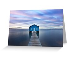 Sunrise at Matilda Bay Boatshed in Perth, Western Australia Greeting Card