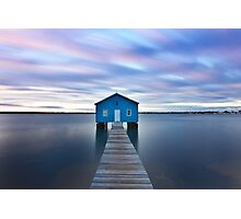 Sunrise at Matilda Bay Boatshed in Perth, Western Australia Photographic Print