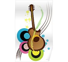 Abstract Guitar for Tshirts Poster
