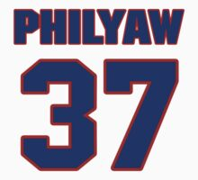 National football player Dino Philyaw jersey 37 by imsport