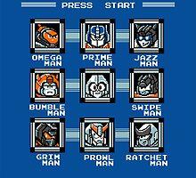 8-bit Transformers/Megaman Shirt (Autobot) by Sweet101