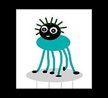 BUG-ME-NOT, turquoise by ackelly4