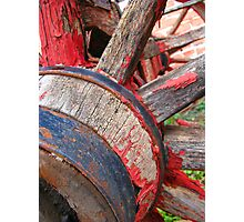 Red wagon dreams Photographic Print