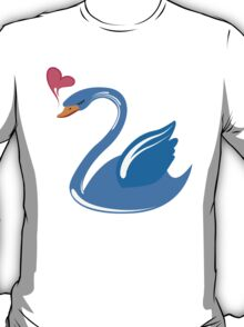 Single cartoon swan in love T-Shirt