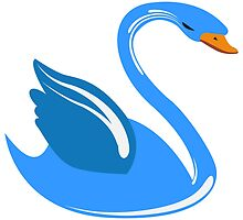 Single cartoon swan by berlinrob