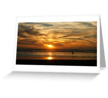 Te Henga Sunset II Greeting Card