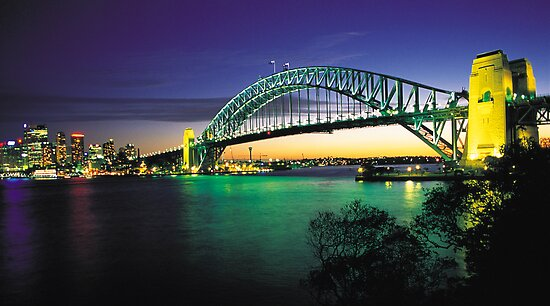 Sydney Harbour Bridge on dusk by Simon Hodgson