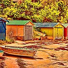 Boatsheds  by wallarooimages