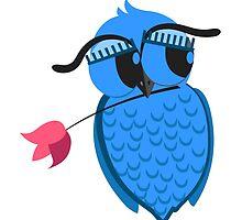 Cute cartoon owl in love by berlinrob