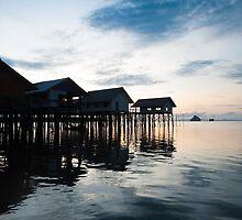 View of Koh Panyee and Phang Nga Bay at dawn by Guy  Berresford