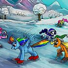 Ice skating MLP card! by Anarchpeace