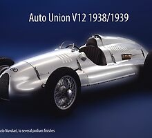 Auto Union V12 by Phillip  McCordall