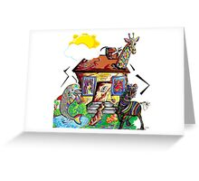 ANIMAL HOUSE Greeting Card
