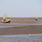 Two Fishing Boats at Brancaster North Norfolk by johnny2sheds