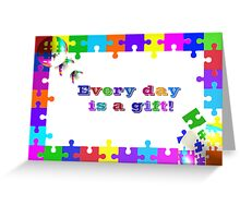 Life Is A Puzzle Greeting Card