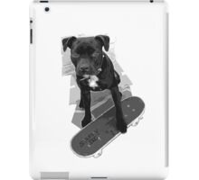 SK8 Staffy Dog black and white iPad Case/Skin