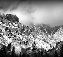 American Fork Canyon - Low-flying Clouds by Ryan Houston