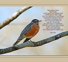 For my prayerful poet friend Lora Mae by Bonnie T.  Barry