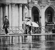 Surf's Up in Venice, Italy (2014).  by Andy Parker