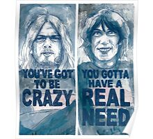"""""""Dogs"""" - David Gilmour & Roger Waters Poster"""