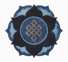 Lotus Flower with Eternal Knot by Joanne Irwin-Rawson