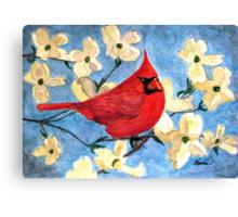 A Cardinal Spring Canvas Print