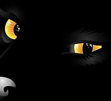 Black cat face 2 by AnnArtshock