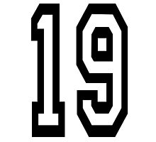 TEAM SPORTS, NUMBER 19, NINETEEN, NINETEENTH, Competition,  Photographic Print