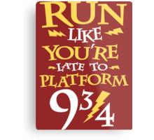 Run Like You're Late To Platform Nine & Three Quarters  Metal Print