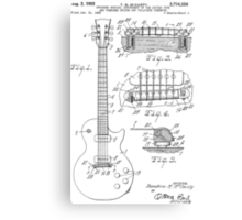 Les Paul  Guitar patent from 1955 Canvas Print