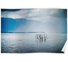 Rainstorm on Ross River Dam Poster
