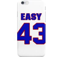 National football player Omar Easy jersey 43 iPhone Case/Skin
