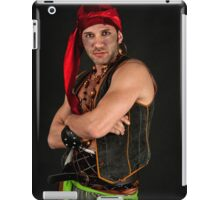 Strong Male Pirate on black background  iPad Case/Skin
