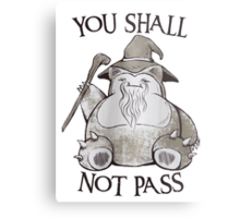 You Shall Not Pass Metal Print