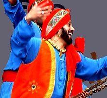 Bhangra Dancer. by Durlabh  Singh