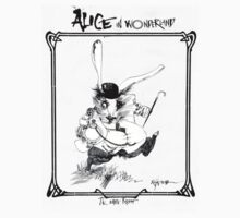 The White Rabbit - ALICE IN WONDERLAND - Ralph Steadman Kids Clothes
