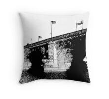 London Bridge Stamp Throw Pillow