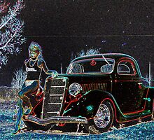 Glowing 35 Ford 3 Window Coup by tvlgoddess