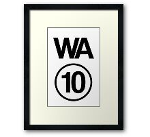 Washington 10 Framed Print