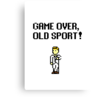 Game Over, Old Sport! Canvas Print