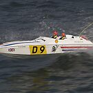 Model speedboat racing , offshore . by SWEEPER