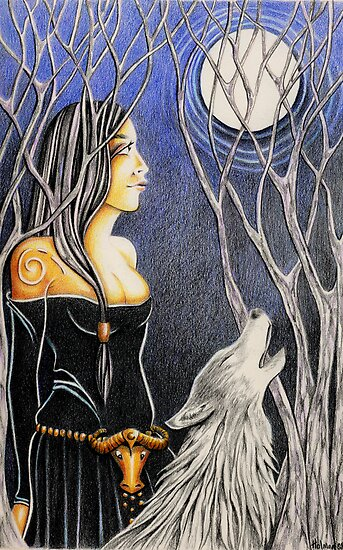 Howling Down The Moon by Deborah Holman