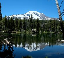 Mt. Adams over Bluff lake by Starlisa