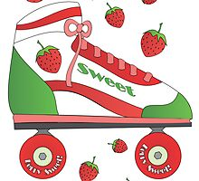 Strawberry Rollerskate by trennea