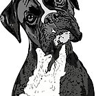 Black and White Boxer Art by ChannyTatum