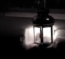 lantern in black & white by Jessica Karran