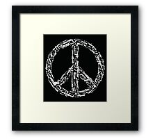 Weapon Peace black Framed Print